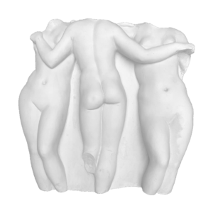 beeld drie gratiën gips