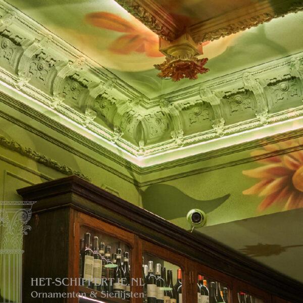 kooflijst, plafonddecoratie, ornamenten
