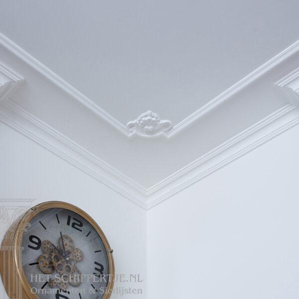 hoek, ornamenten, plafondhoek