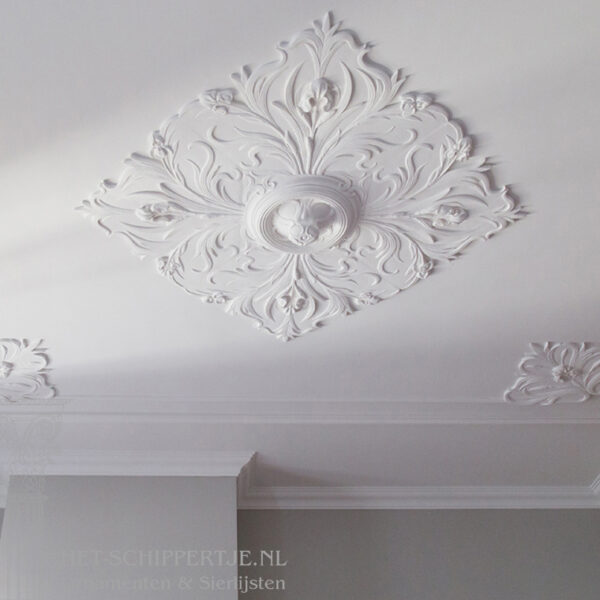 rozet, ornamenten, plafonddecoratie