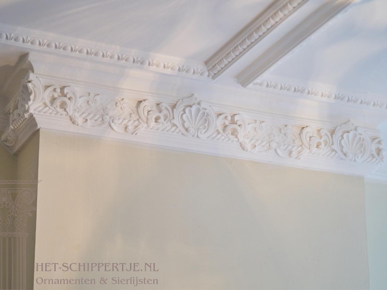 plafondlijsten en ornamenten woonhuis Rotterdam klassiek