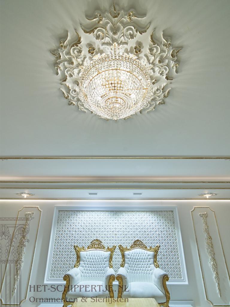 plafondlijsten en wanddecoratie het paleis Schiedam