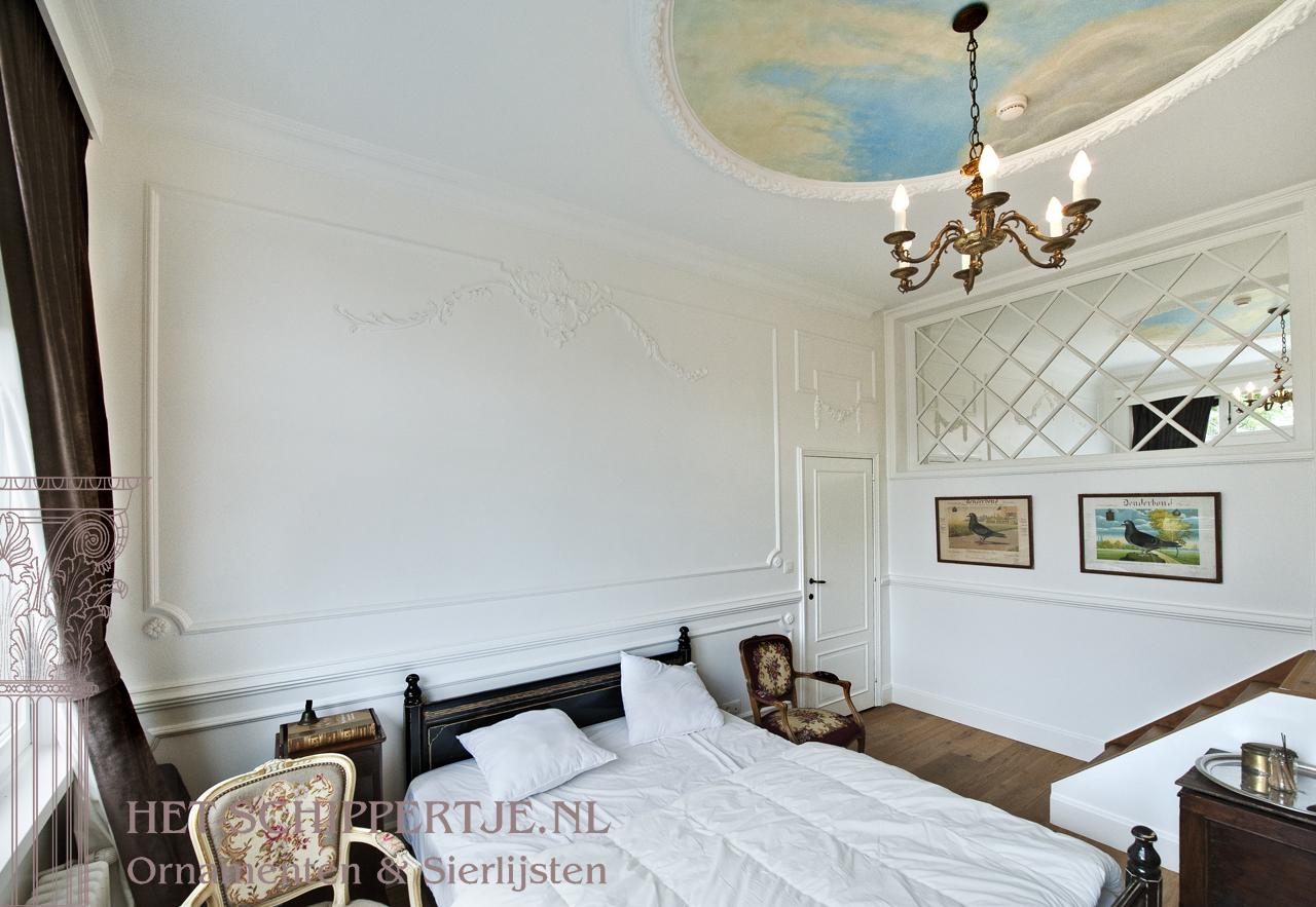 wanddecoratie sierlijsten klassiek hotel