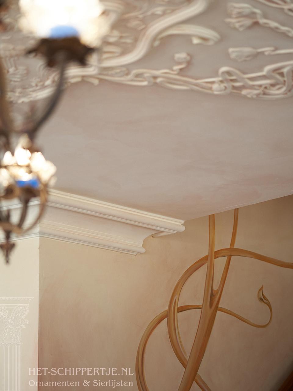 art nouveau sierlijsten en ornamenten