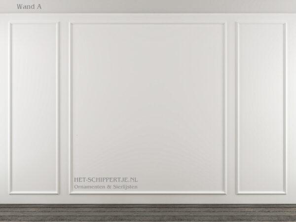 Wandlijsten voorbeeld wand.
