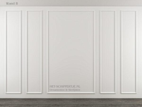 Wandlijsten voorbeeld met sierlijsten