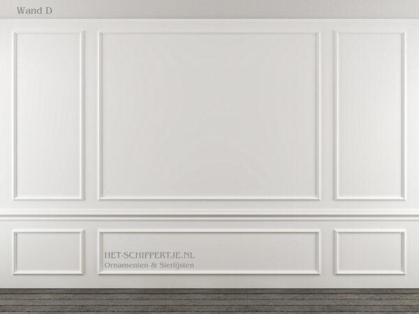 Wandlijsten voorbeeld hoe de lijsten te plakken
